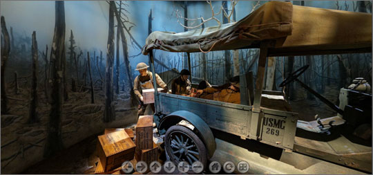 National Museum of the Marine Corps Virtual Experience - view from the World War I Gallery